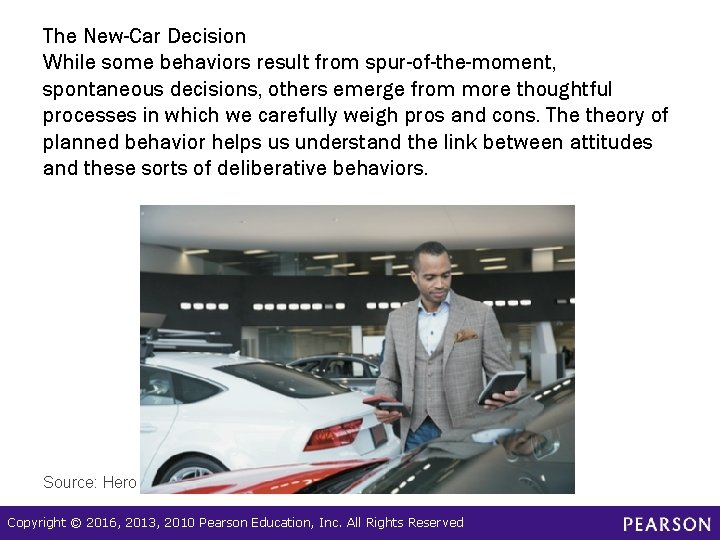 The New-Car Decision While some behaviors result from spur-of-the-moment, spontaneous decisions, others emerge from