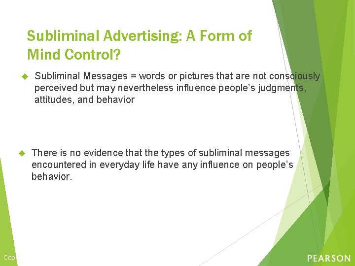 Subliminal Advertising: A Form of Mind Control? Subliminal Messages = words or pictures that