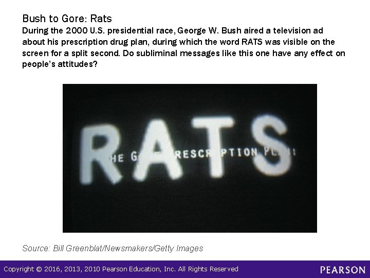 Bush to Gore: Rats During the 2000 U. S. presidential race, George W. Bush
