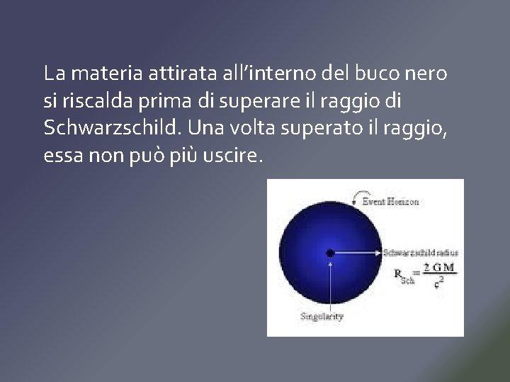 La materia attirata all'interno del buco nero si riscalda prima di superare il raggio