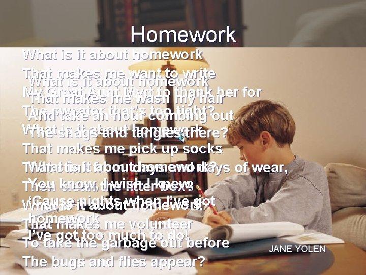 Homework jane yolen in making paper research steps