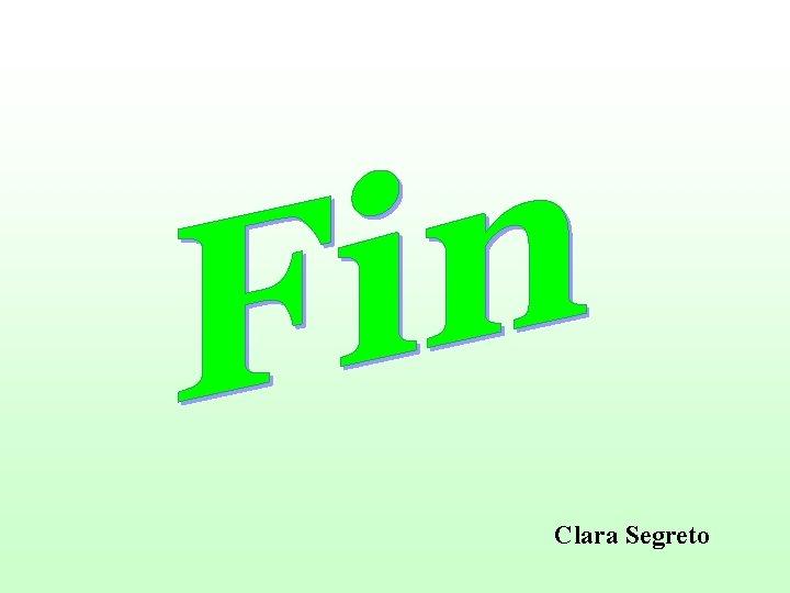 Clara Segreto