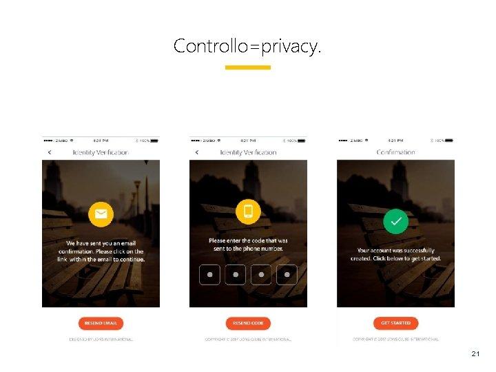 Controllo=privacy. 21