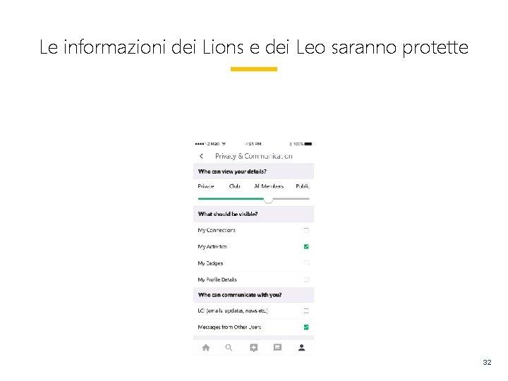 Le informazioni dei Lions e dei Leo saranno protette 32