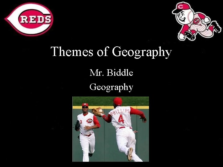 Themes of Geography Mr. Biddle Geography