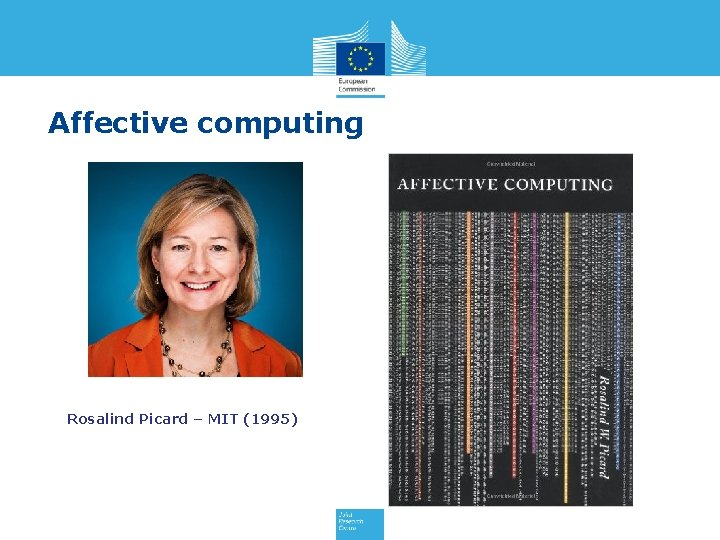 Affective computing Rosalind Picard – MIT (1995)