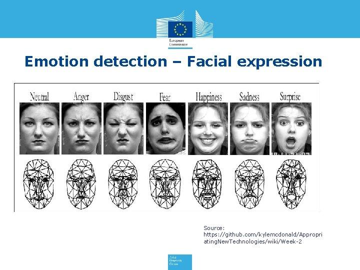 Emotion detection – Facial expression Source: https: //github. com/kylemcdonald/Appropri ating. New. Technologies/wiki/Week-2
