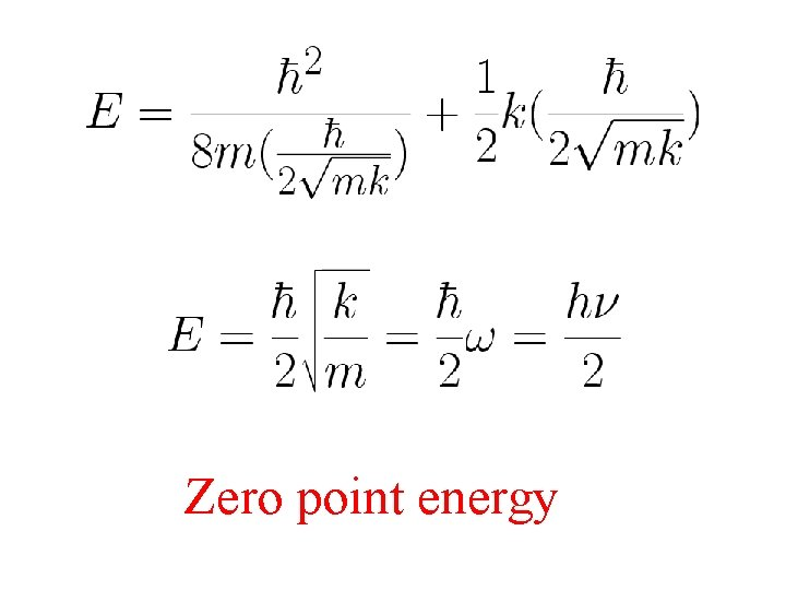 Zero point energy