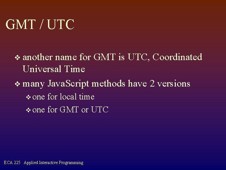 2 utc to gmt conversion