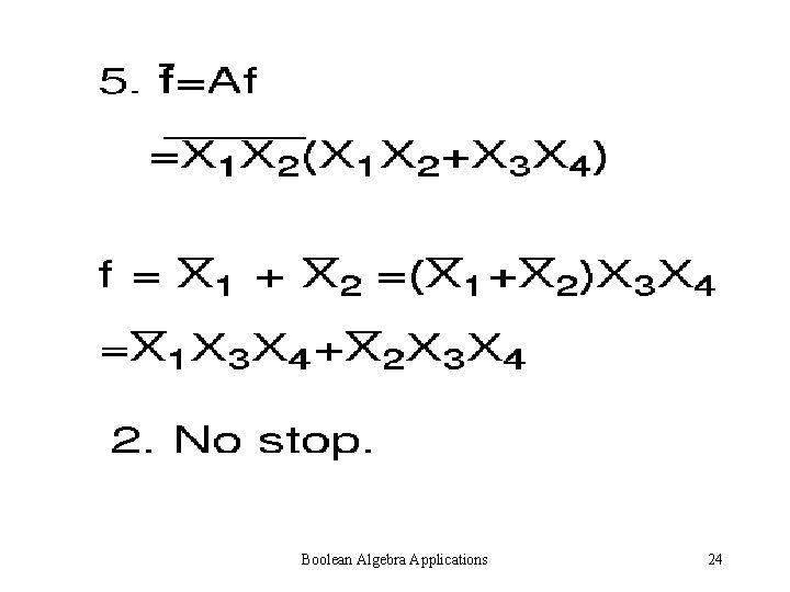 Boolean Algebra Applications 24