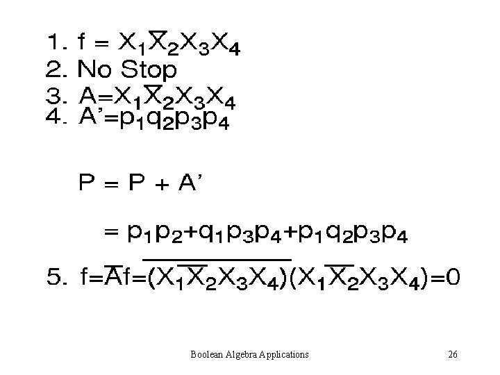 Boolean Algebra Applications 26