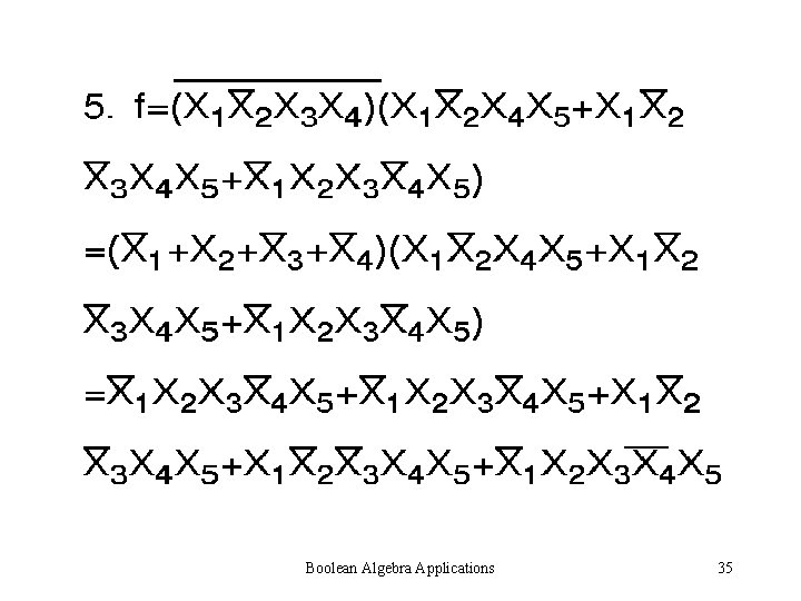 Boolean Algebra Applications 35