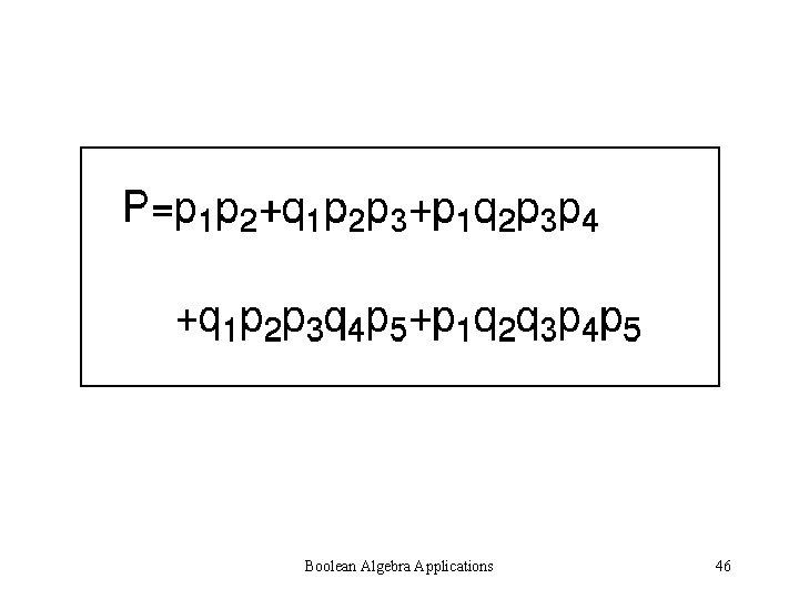 Boolean Algebra Applications 46