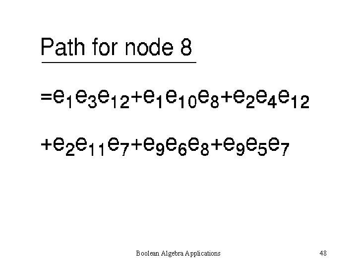 Boolean Algebra Applications 48