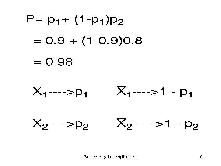Boolean Algebra Applications 6