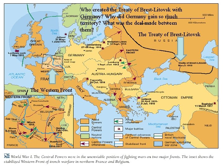 Who created the Treaty of Brest-Litovsk with Germany? Why did Germany gain so much