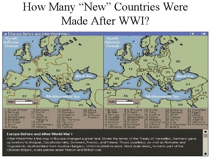 """How Many """"New"""" Countries Were Made After WWI?"""