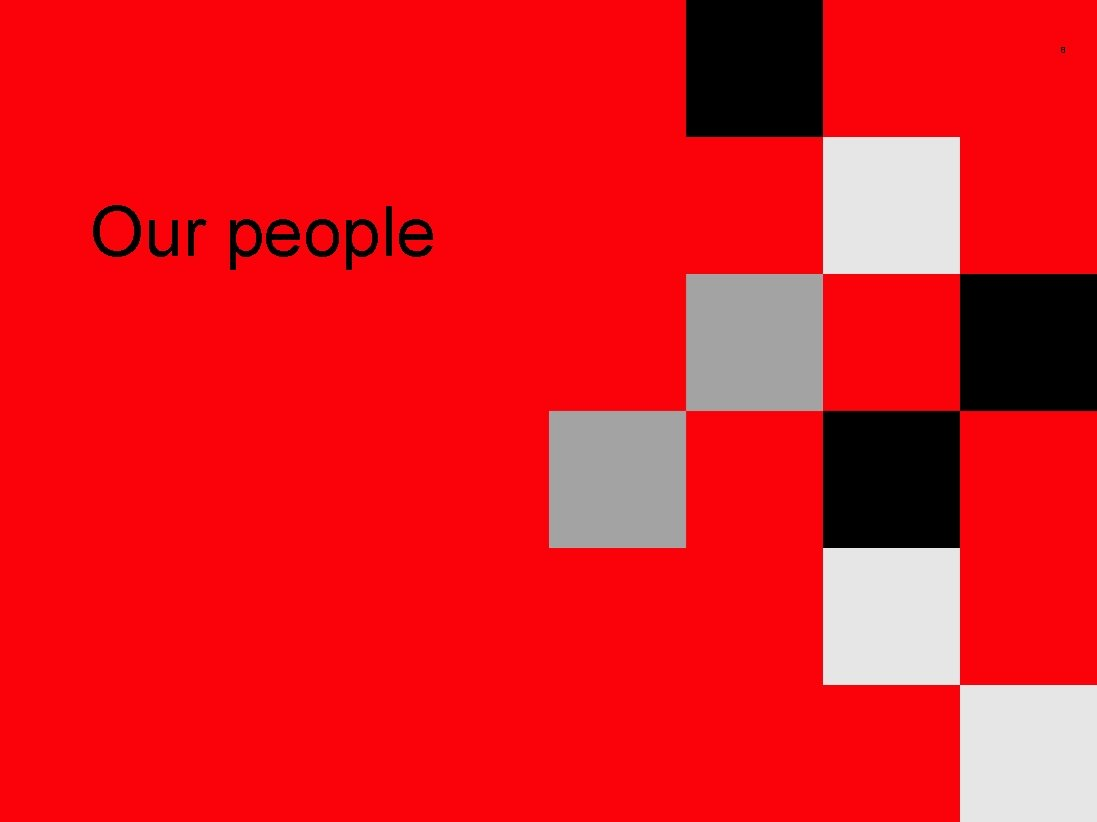 8 Our people