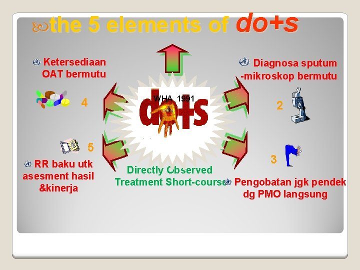 the 5 elements of Ketersediaan OAT bermutu 4 5 RR baku utk asesment