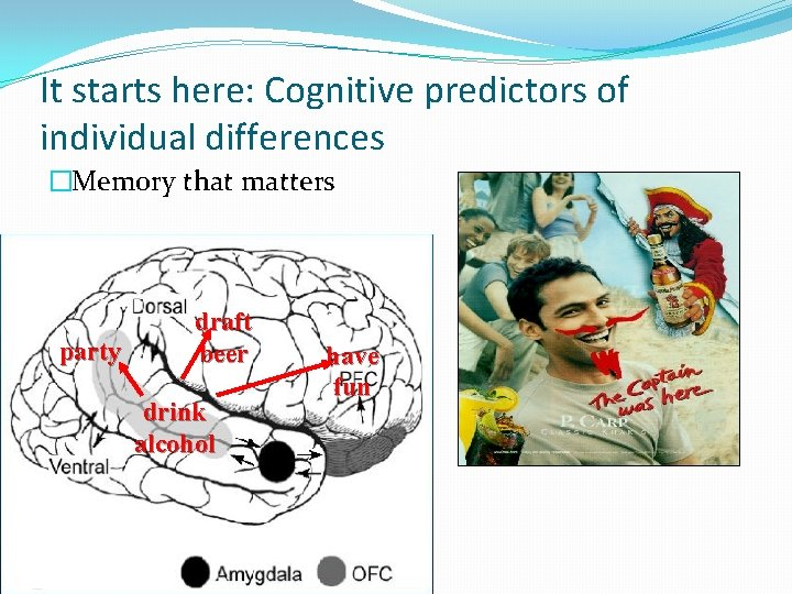 It starts here: Cognitive predictors of individual differences �Memory that matters party draft beer