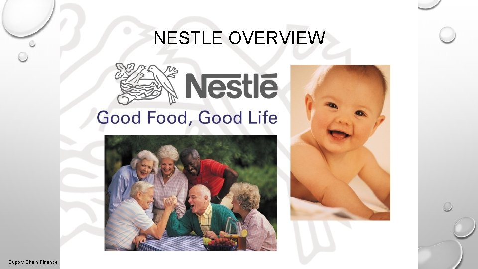 NESTLE OVERVIEW 2/27/2021 2 Supply Chain Finance