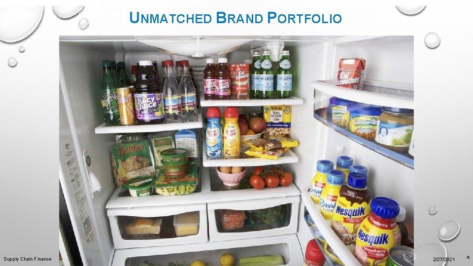 UNMATCHED BRAND PORTFOLIO Supply Chain Finance 2/27/2021 4