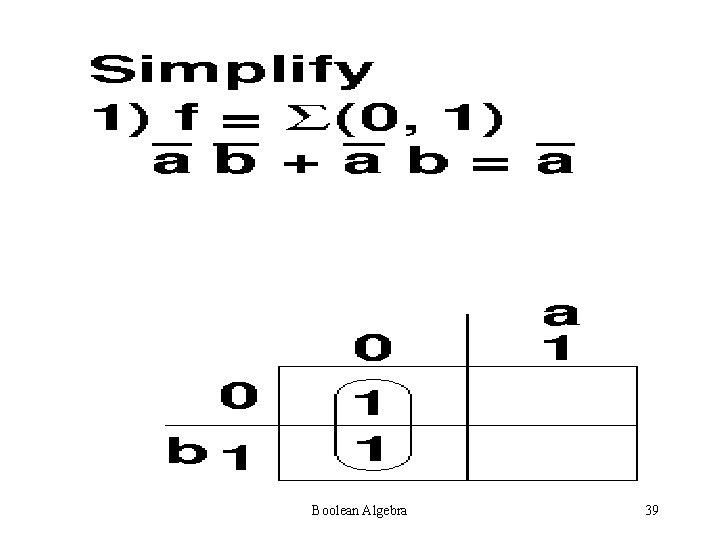 Boolean Algebra 39