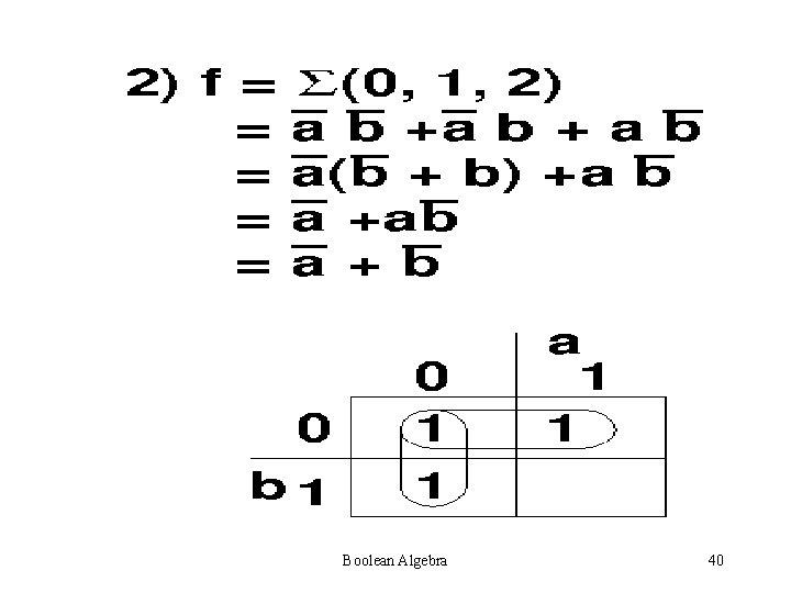 Boolean Algebra 40