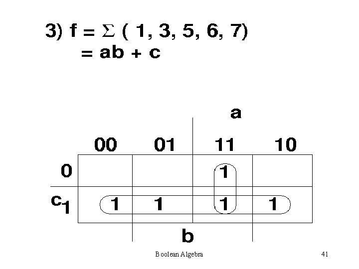 Boolean Algebra 41