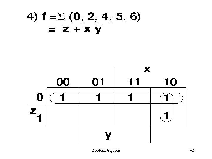 Boolean Algebra 42