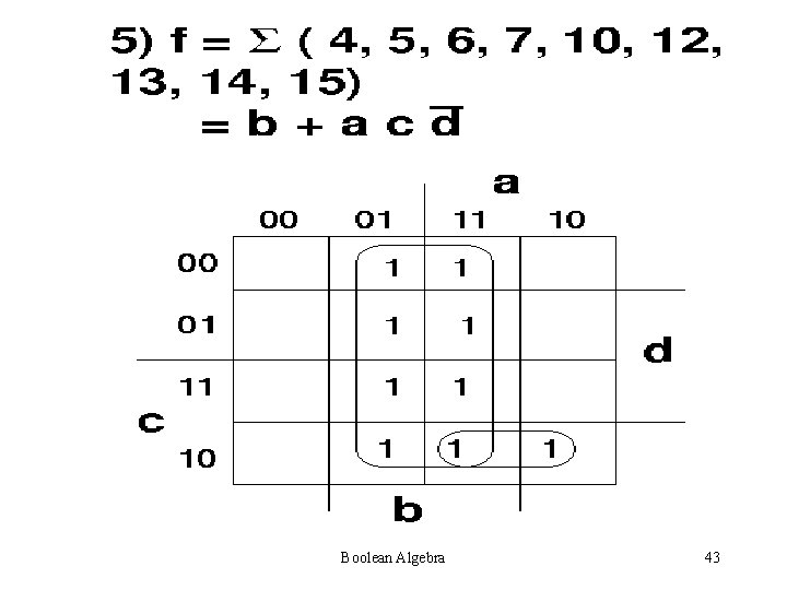 Boolean Algebra 43