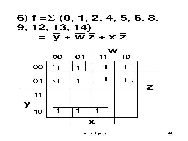 Boolean Algebra 44