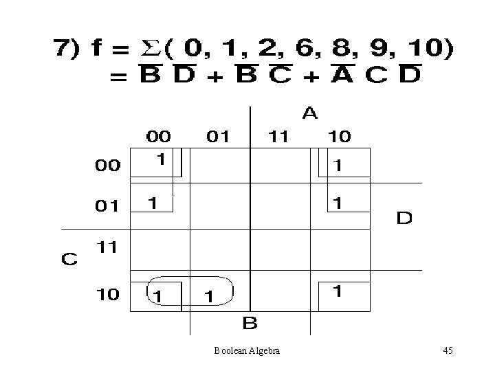 Boolean Algebra 45