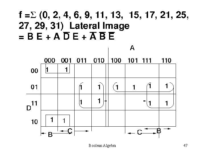 Boolean Algebra 47