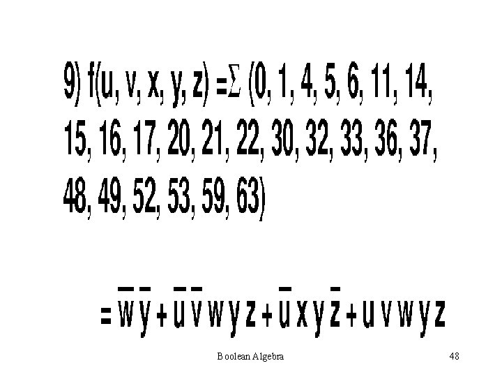 Boolean Algebra 48