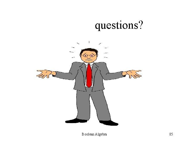 questions? Boolean Algebra 85
