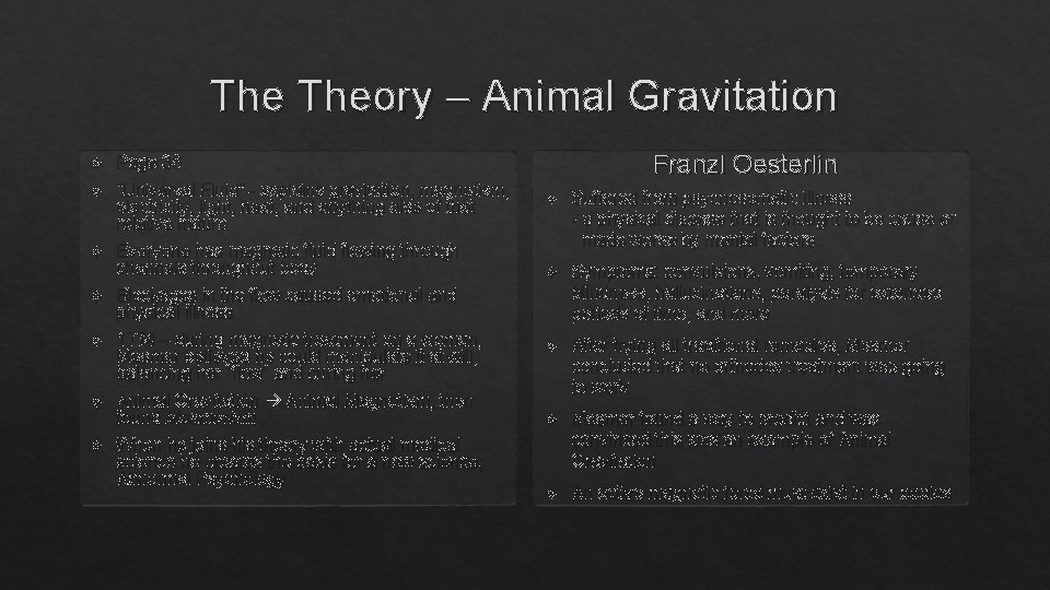 """The Theory – Animal Gravitation Page 36 """"Universal Fluid"""" - explains gravitation, magnetism, electricity,"""