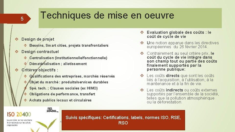 5 Techniques de mise en oeuvre Design de projet Besoins, Smart cities, projets transfrontaliers