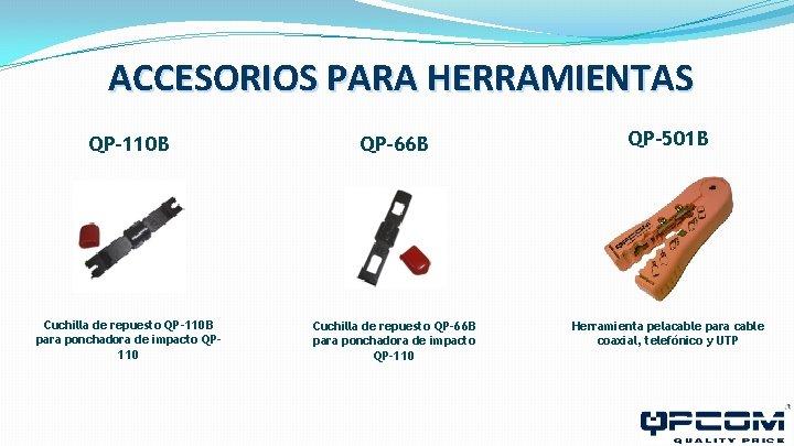 ACCESORIOS PARA HERRAMIENTAS QP-110 B QP-66 B QP-501 B Cuchilla de repuesto QP-110 B