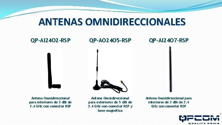 ANTENAS OMNIDIRECCIONALES QP-AI 24 O 2 -RSP QP-AO 24 O 5 -RSP QP-AI 24