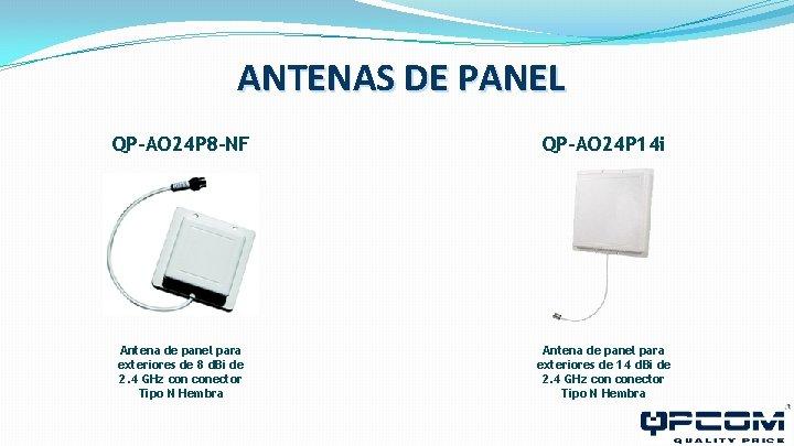 ANTENAS DE PANEL QP-AO 24 P 8 -NF QP-AO 24 P 14 i Antena