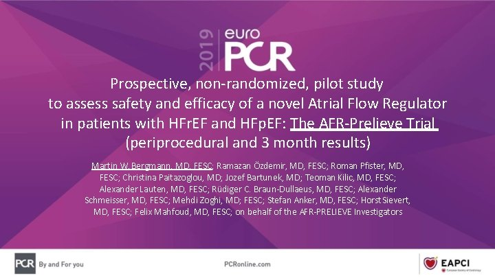 Prospective, non-randomized, pilot study to assess safety and efficacy of a novel Atrial Flow