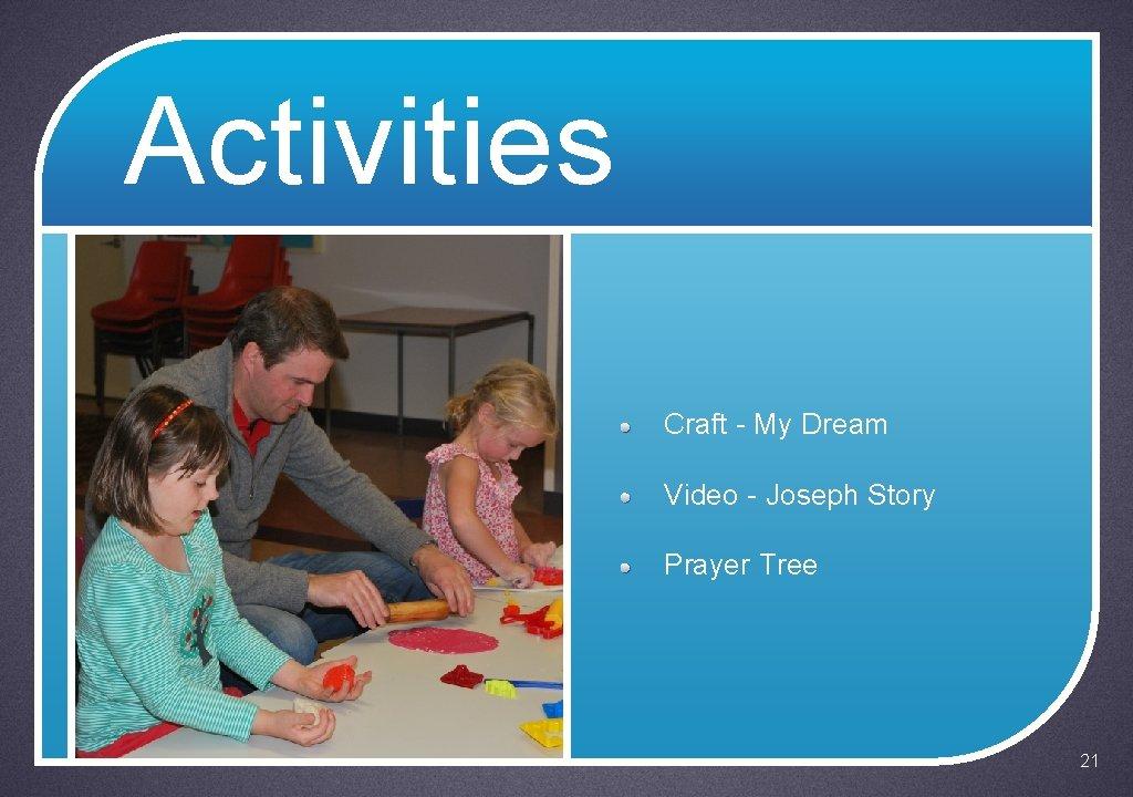 Activities Craft - My Dream Video - Joseph Story Prayer Tree 21