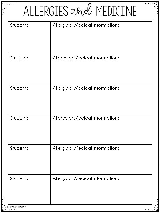 Student: Allergy or Medical Information: Student: Allergy or Medical Information: