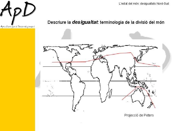 L'estat del món: desigualtats Nord-Sud Descriure la desigualtat: terminologia de la divisió del món