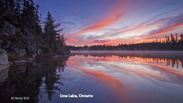 28 février 2021 Line Lake, Ontario