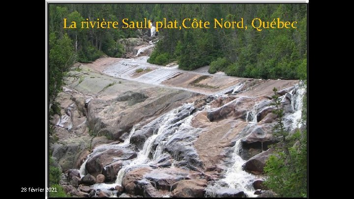 La rivière Sault plat, Côte Nord, Québec 28 février 2021