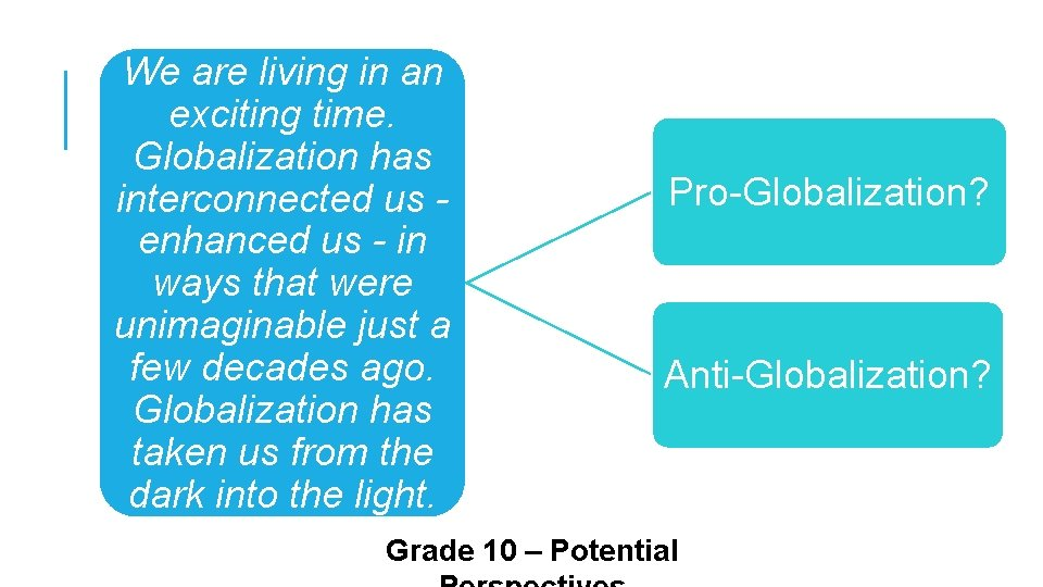 We are living in an exciting time. Globalization has interconnected us enhanced us -