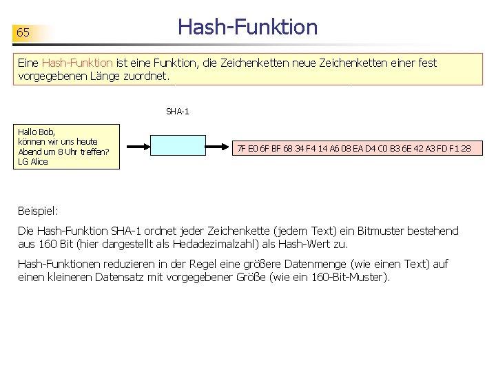 Was ist eine kryptografische Hash-Funktion