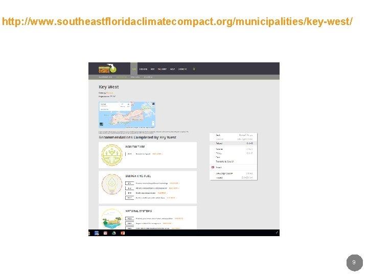 http: //www. southeastfloridaclimatecompact. org/municipalities/key-west/ 9